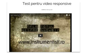 cum sa faci un video responsive