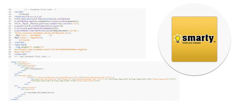cod javascript fisier tpl smarty