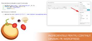continut dinamic si url dinamic pe wordpress