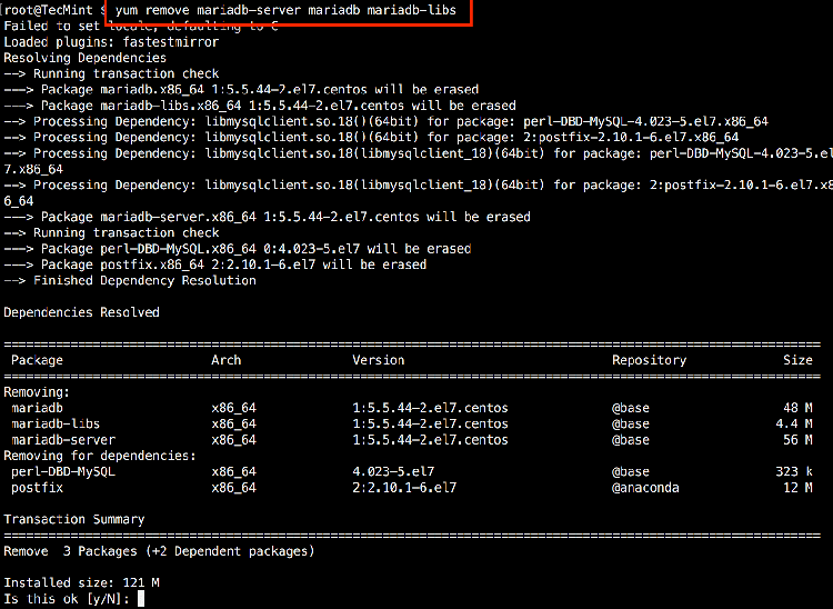 Cum faci upgrade de MariaDB în CentOS 7?